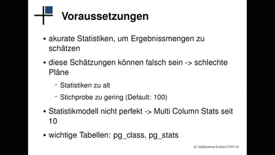 PostgreSQL: EXPLAIN erklärt