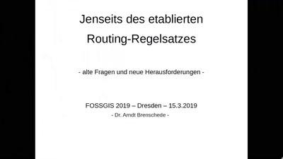 Jenseits des etablierten OSM-Routing-Regelsatzes