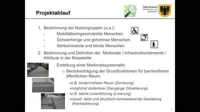 Barrierefreies Fußgängerrouting für Dortmund