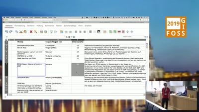 OSM-Unkonferenz Ankommen und Eröffnung