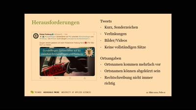 Räumliche Verortung von textbasierten Social-Media-Einträgen am Beispiel von Polizei-Tweets