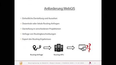 Ein einheitlicher Frontend-Ansatz, um mehrere Routing-Lösungen im WebGIS zu nutzen