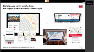 Digitale Bahnhofspläne für die Reisendeninformation der Deutschen Bahn