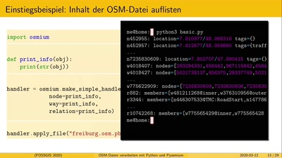 OSM-Daten verarbeiten mit Python und Pyosmium