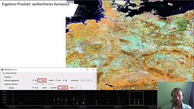 FORCE4Q Plugin - Ableitung wolkenfreier Bildkomposite aus frei verfügbaren Landsat und Sentinel-2 Satellitenbildern