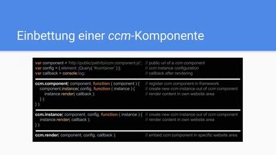 Komponenten für das WWW: Das Client-side Component Model (ccm)