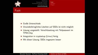 Sicheres Löschen von Daten auf SSDs