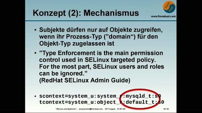 SELinux und AppArmor