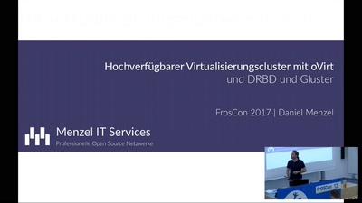 HA-Virtualisierungscluster mit oVirt, DRBD und Gluster