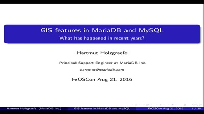 GIS features in MariaDB and MySQL