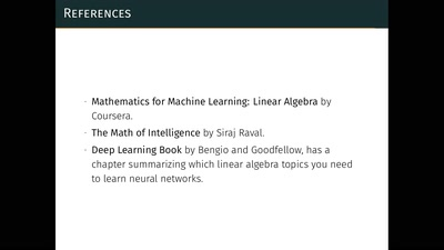 From linear algebra to machine learning
