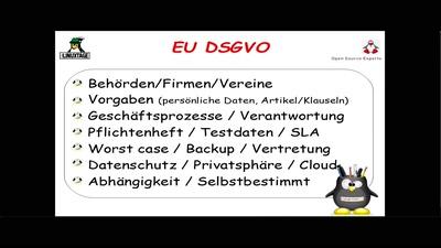 EU Datenschutzgrundverordnung DSGVO & Open Source