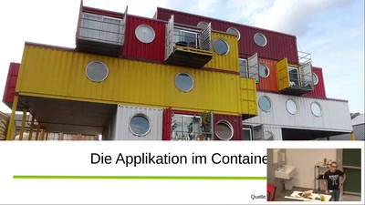 Die Applikation im Container