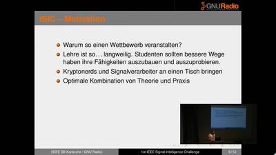 """Siegerehrung """"1st IEEE Signal Intelligence Challenge"""""""