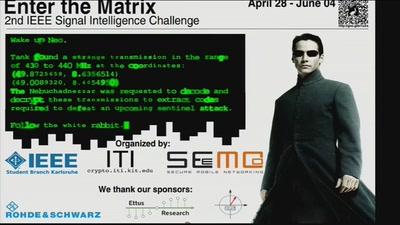 Siegerehrung: 2nd IEEE Signal Intelligence Challenge