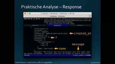 Web API Hacks mit der Jodel-App