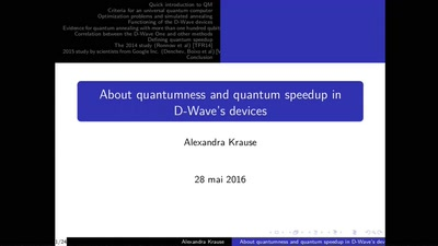 About quantumness and quantum speedup in D-Wave devices