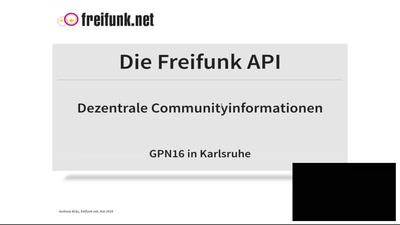 Die Freifunk API