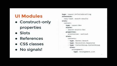 Modular UIs for offline content