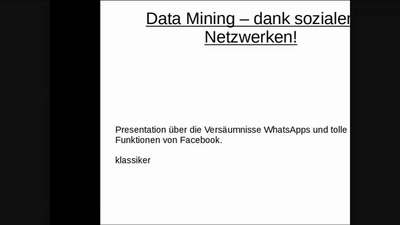 WhatsApp Data Mining