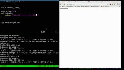 Lightning Talk: Webprogrammierung mit Python (flask)