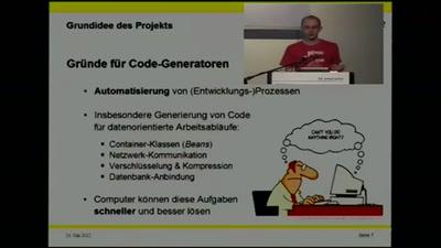Metaebene - Fabric als Code Generation Framework für Java, C und C++