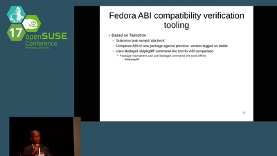 Libabigail: How semantic analysis of C and C++ ELF binaries can be used to analyze ABI changes