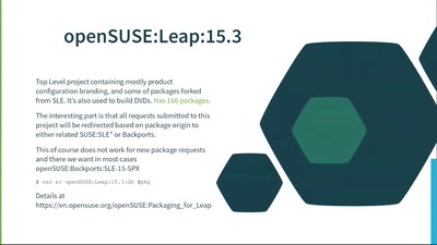 Live: Getting your changes to SUSE Linux Enteprirse and Leap