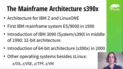 openSUSE on the Mainframe