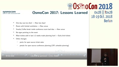 Welcome to OsmoCon 2018