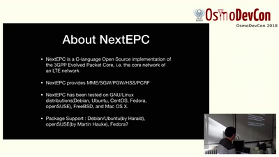 nextepc as LTE core network