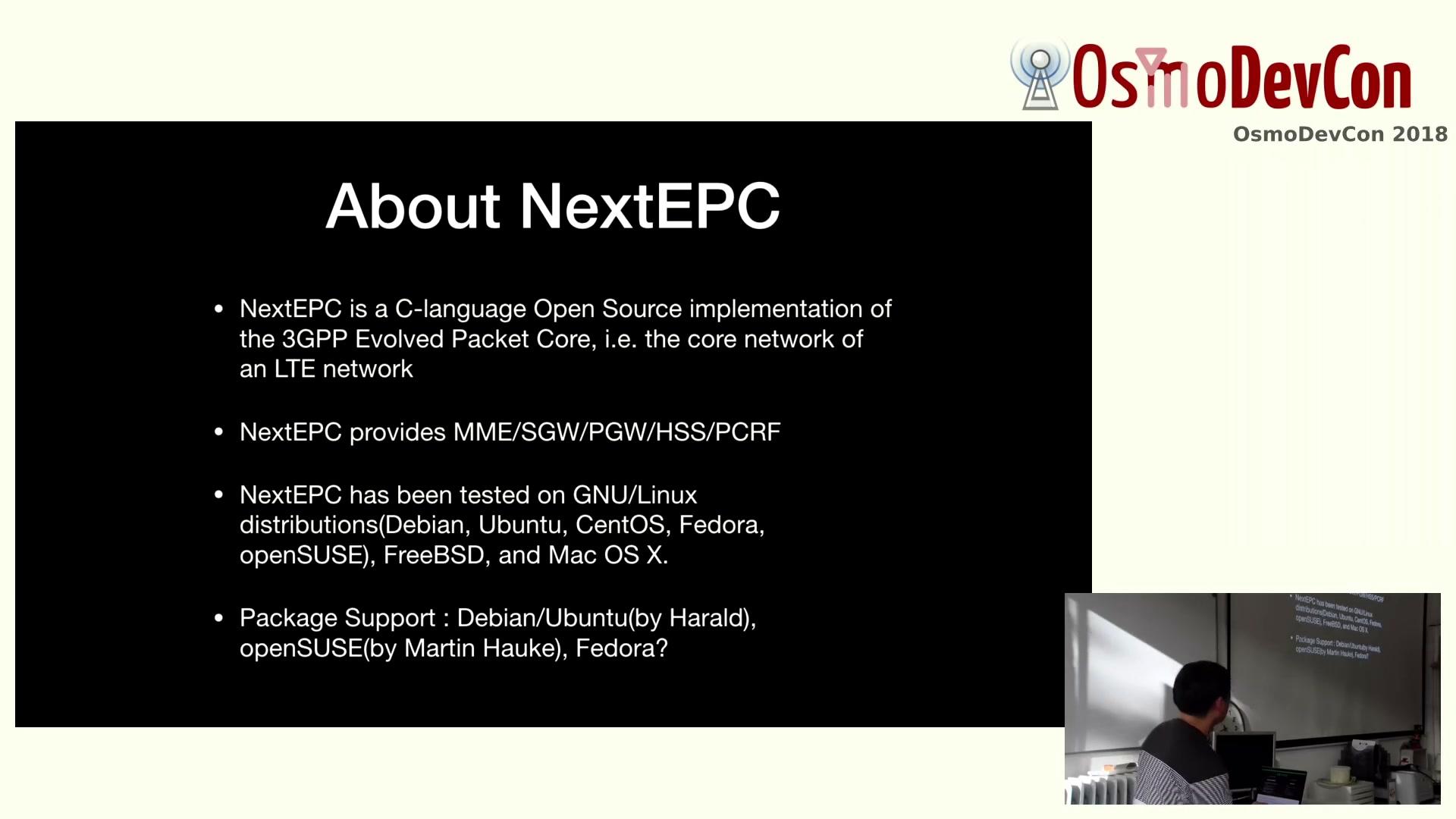 media ccc de - nextepc as LTE core network