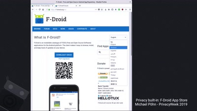 Privacy built in: F-Droid App Store