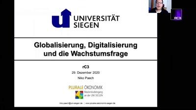 Globalisierung, Digitalisierung und die Wachstumsfrage