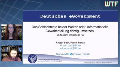 Deutsches eGovernment – das Schlechteste beider Welten oder: informationelle Gewaltenteilung richtig umsetzen