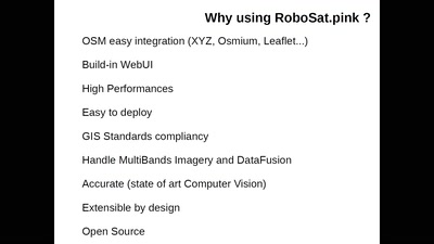 Data Quality and Feature Extraction at scale with RoboSat.pink