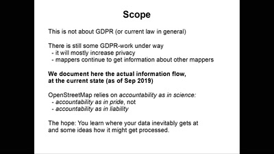 Mapper's privacy