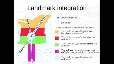 Automatically annotate a pedestrian route with OSM landmarks
