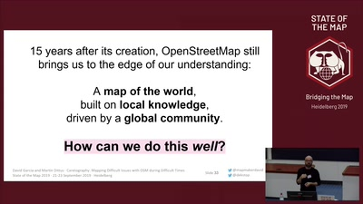 Caretography - Mapping Difficult Issues with OpenStreetMap during Difficult Times