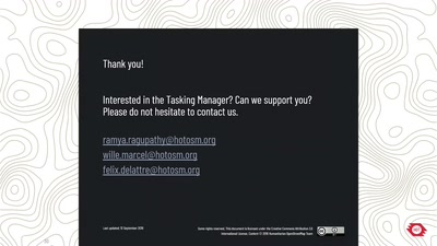 Tales from the Tasking Manager