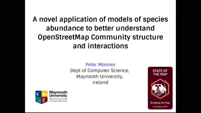 A novel application of models of species abundance to better understand OpenStreetMap Community structure and interactions