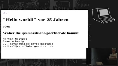 """""""Hello world!"""" vor 25 Jahren"""