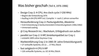 Das kurze Leben der Cray-3