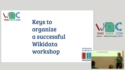 Keys to organize a successful Wikidata workshop