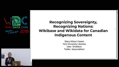 Wikibase for Canadian Indigenous Content