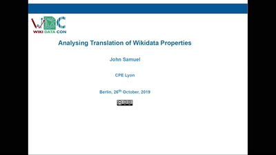 Analysing Translation of Wikidata Properties