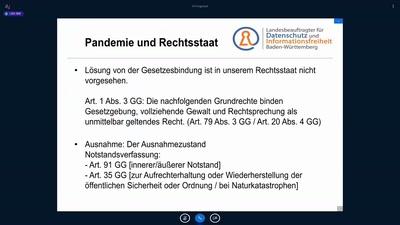 Wie die Pandemie den Datenschutz infiziert hat - Rückblick von Stefan Brink (LfDI BW)