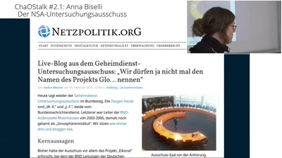 ChaOStalk #2.1 - #NSAUA - Anna Biselli