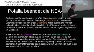 "ChaOStalk #2.2 - #NSAUA - Prof. Martin ""maha"" Haase"