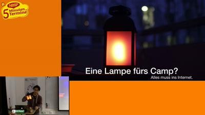 TVLuke über eine Lampe fürs Camp [Fünf-Minuten-Termine]